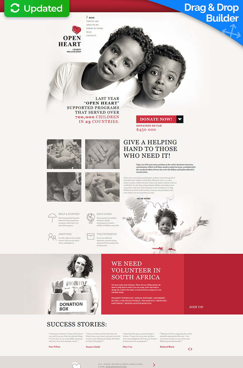Charity Moto CMS 3 Template