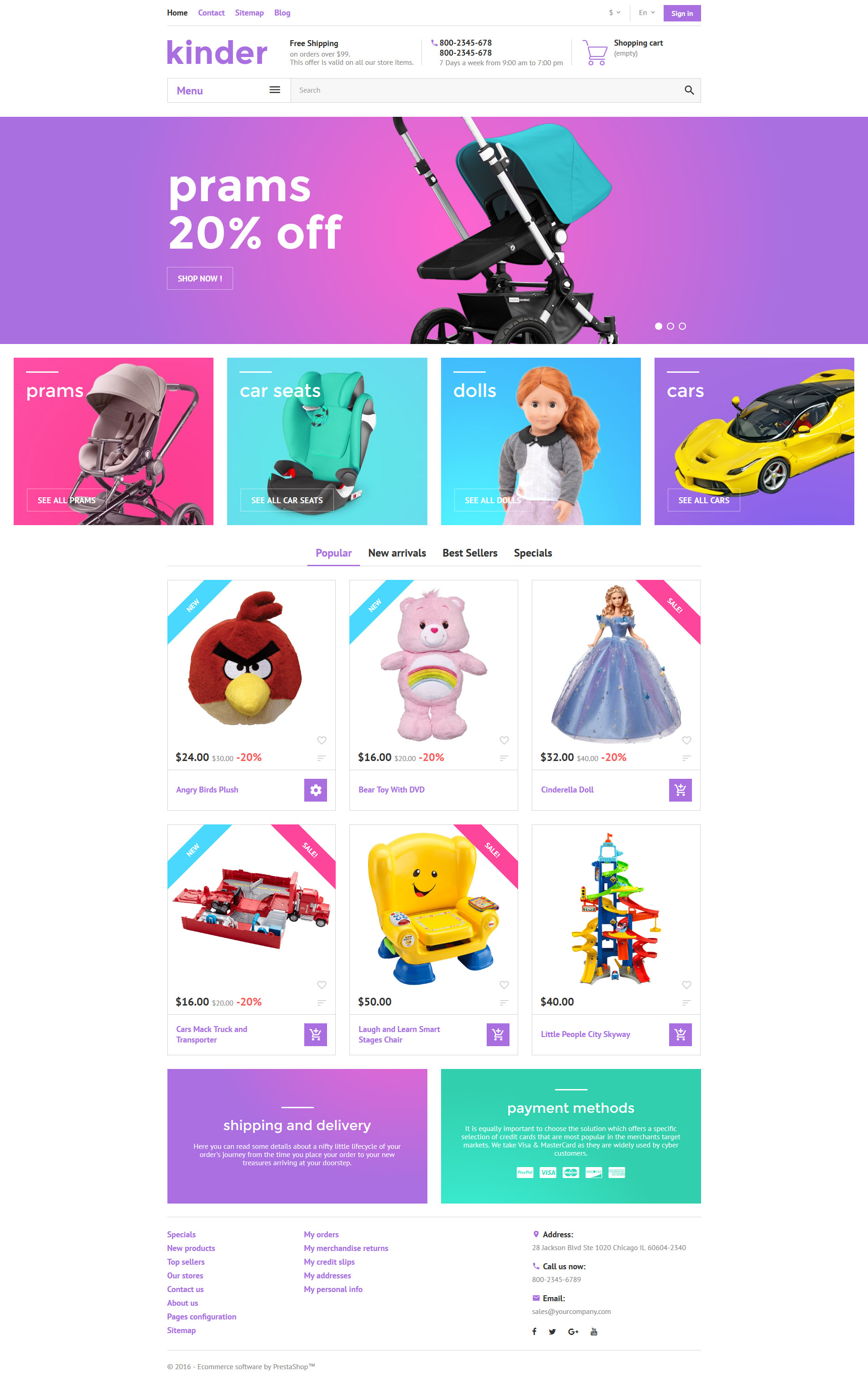 Kinder PrestaShop Theme