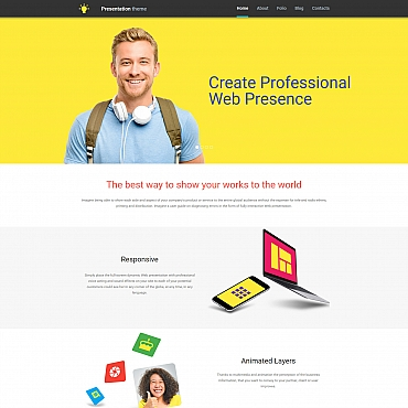 Template Web Design Moto CMS 3 #58414