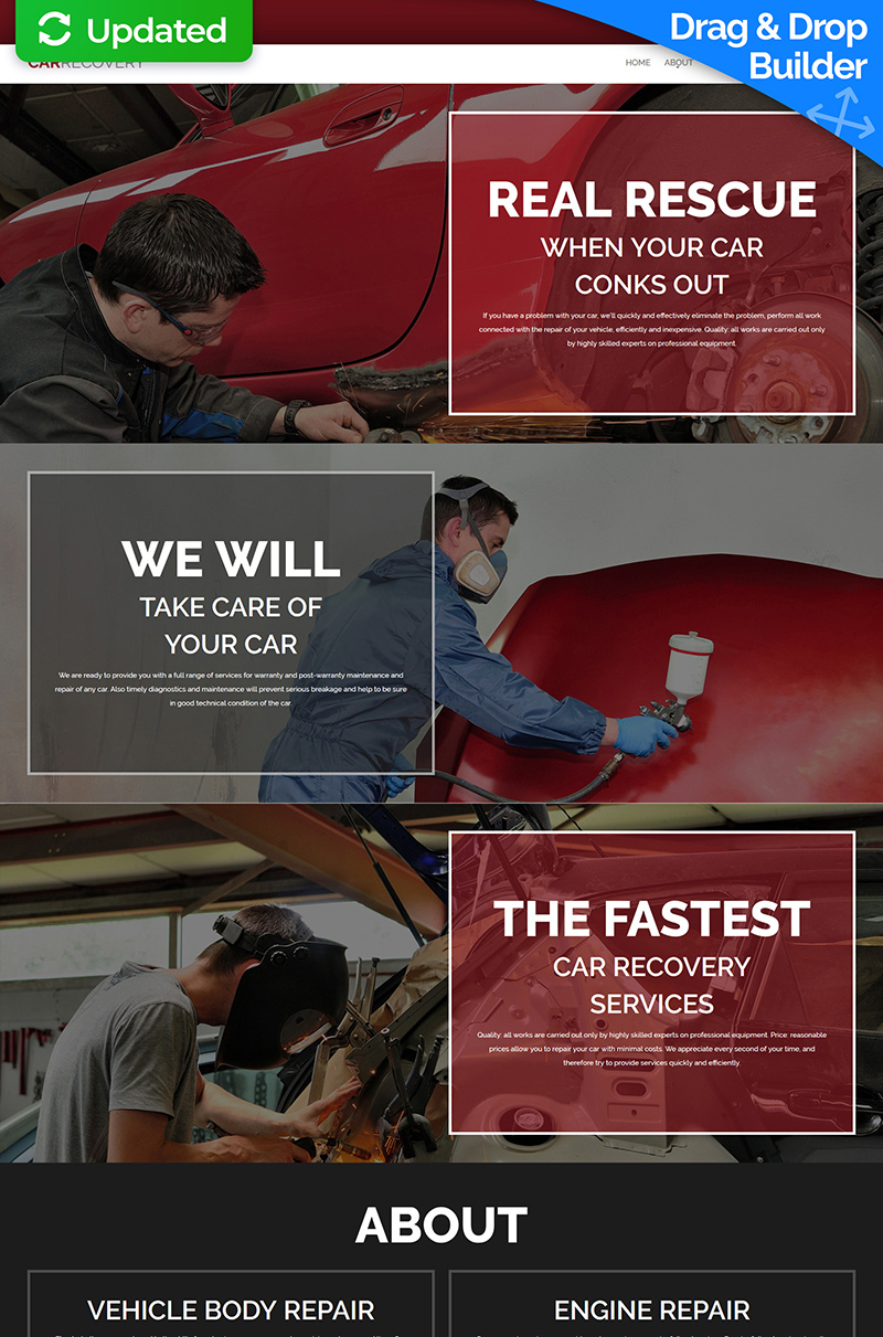 Car Repair Moto CMS 3 Template