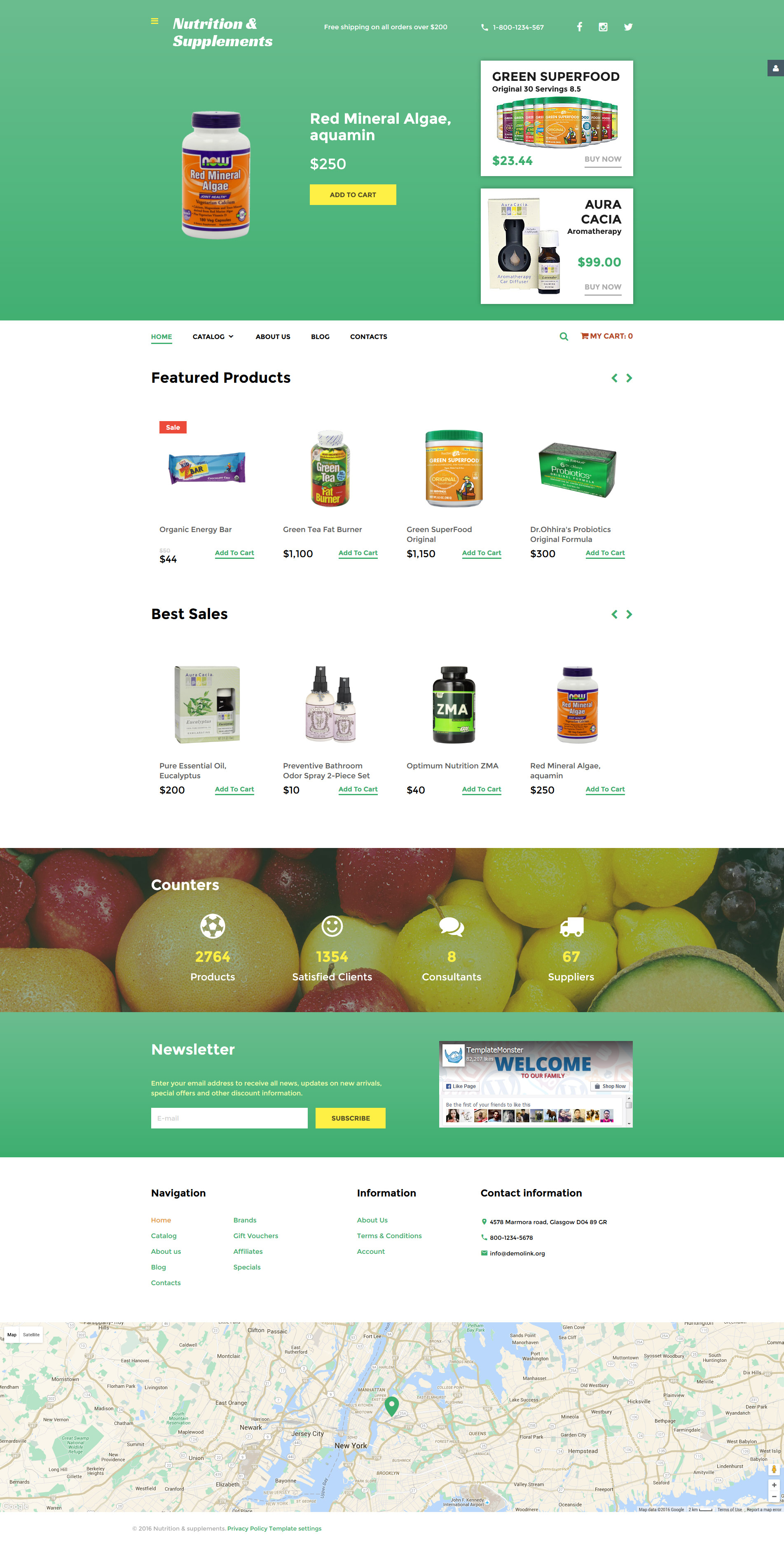 Nutrition  Supplements VirtueMart Template