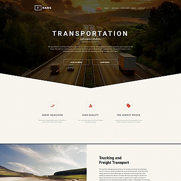 Template Transport Moto CMS 3 #58552