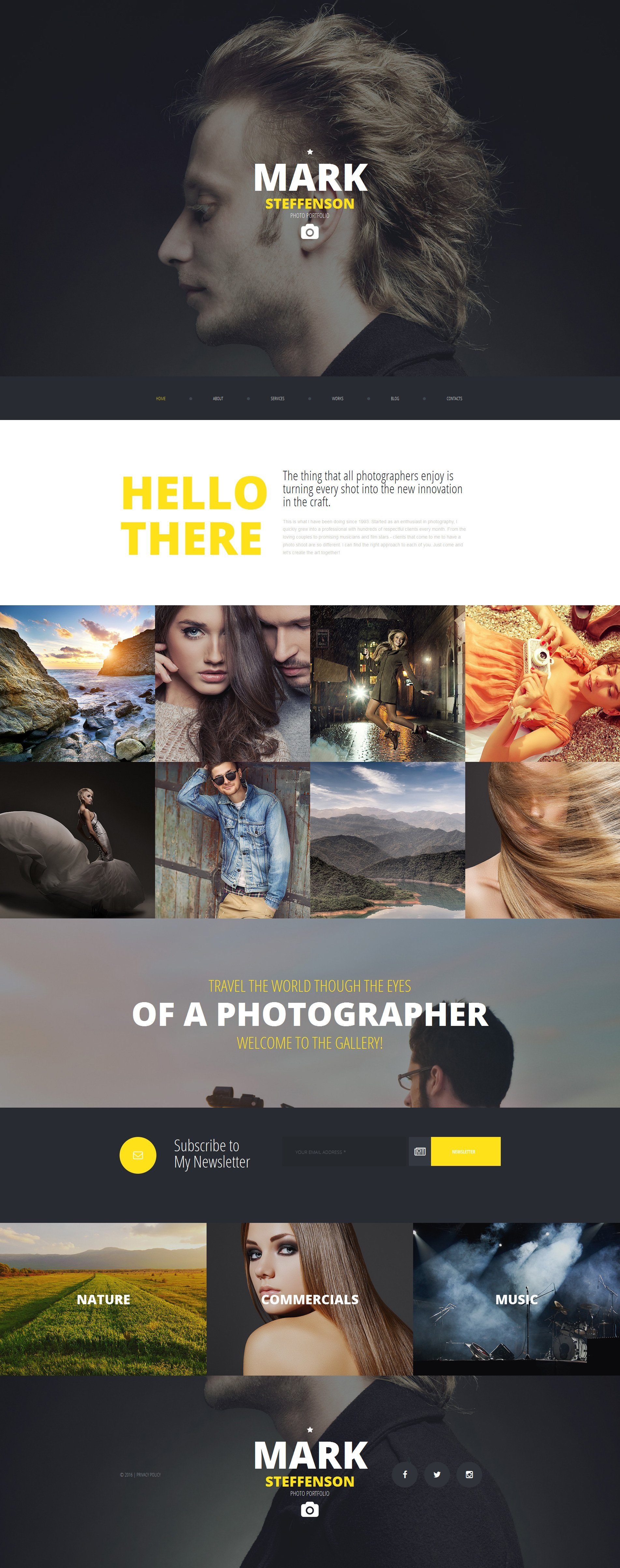 Mark Steffenson - Best Photographer Moto CMS 3 Template