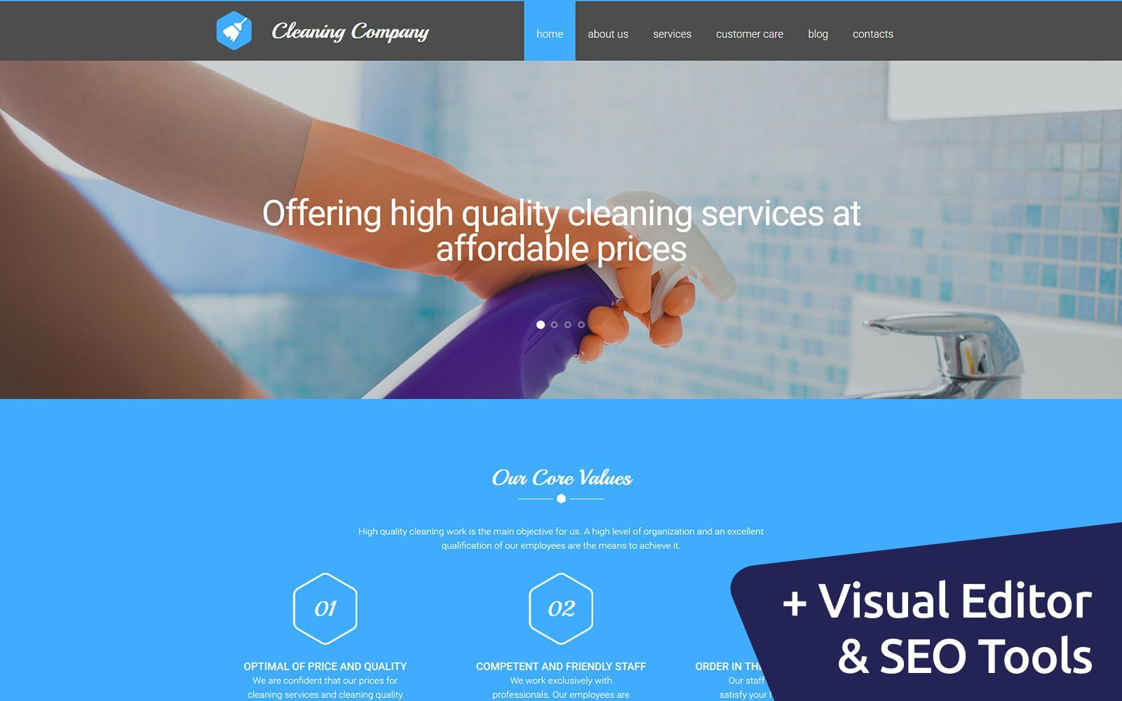 Cleaning Responsive Moto CMS 3 Template