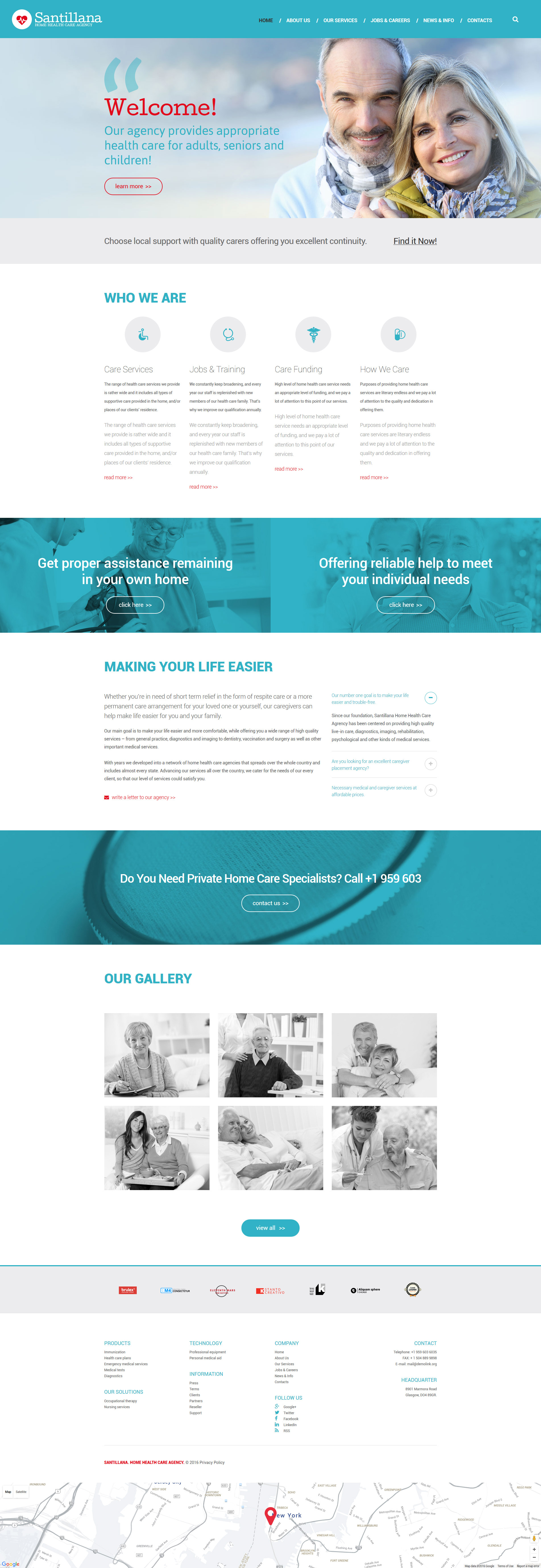 Home Health Care Agency Drupal Template