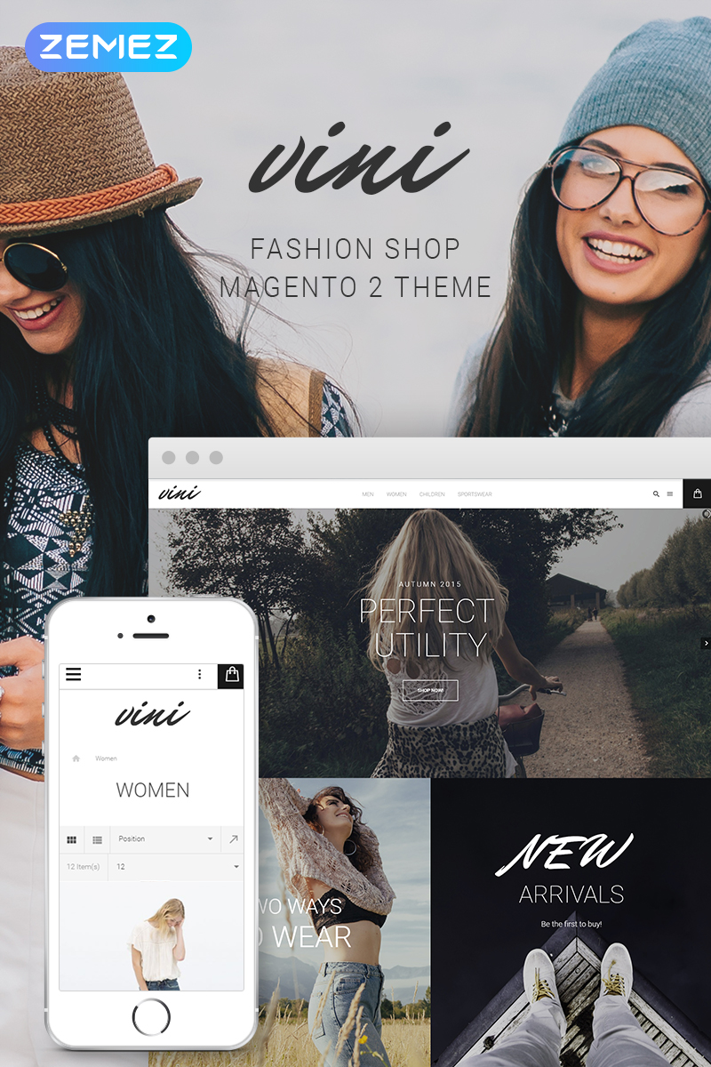 Vini - Fashion Shop Magento Theme