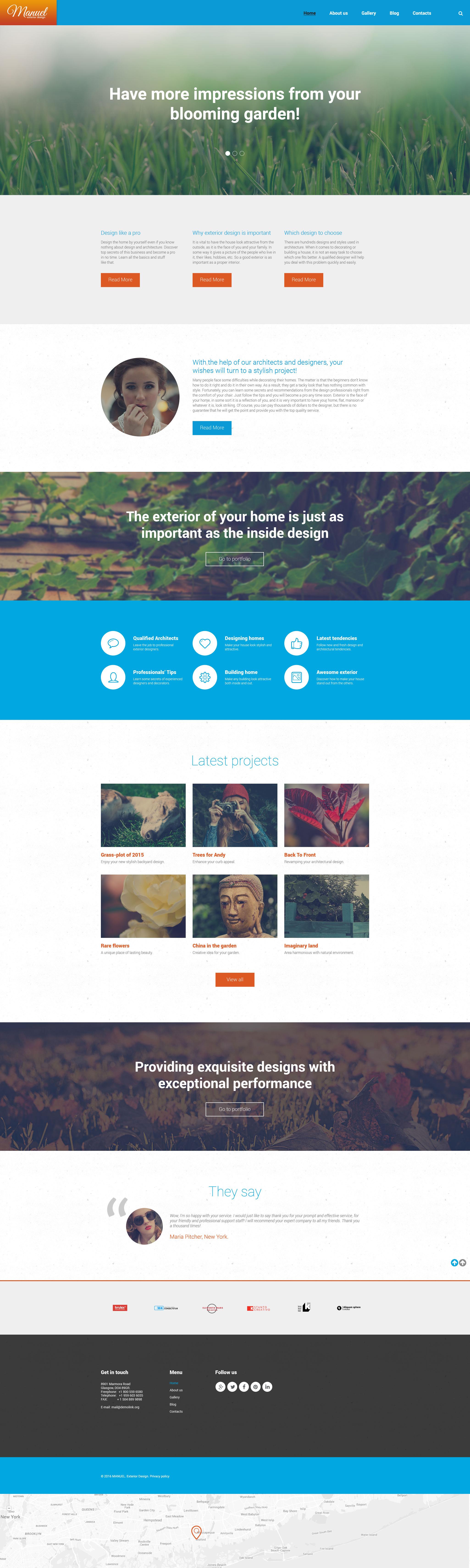 Manuel WordPress Theme