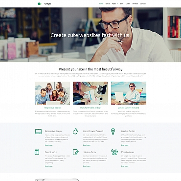 Template Web Design Moto CMS 3 #58621