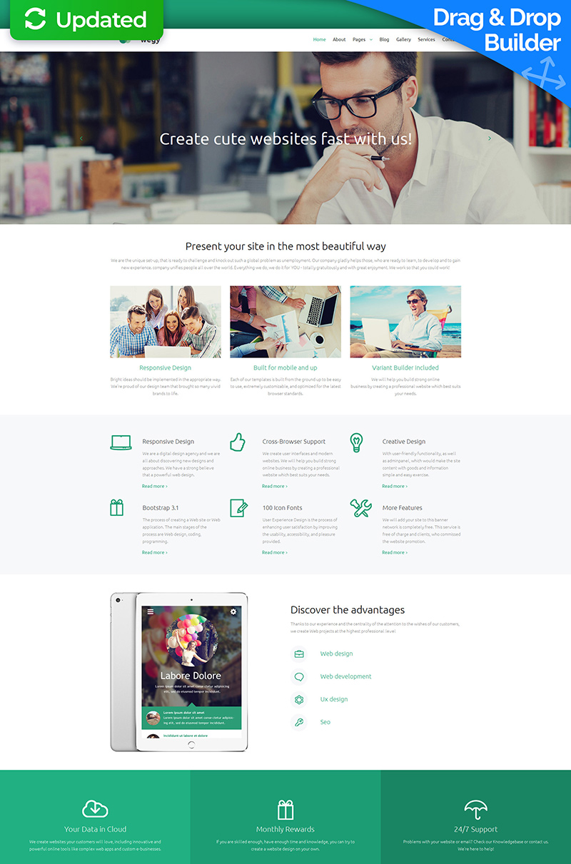 Wegy - Design Agency Moto CMS 3 Template