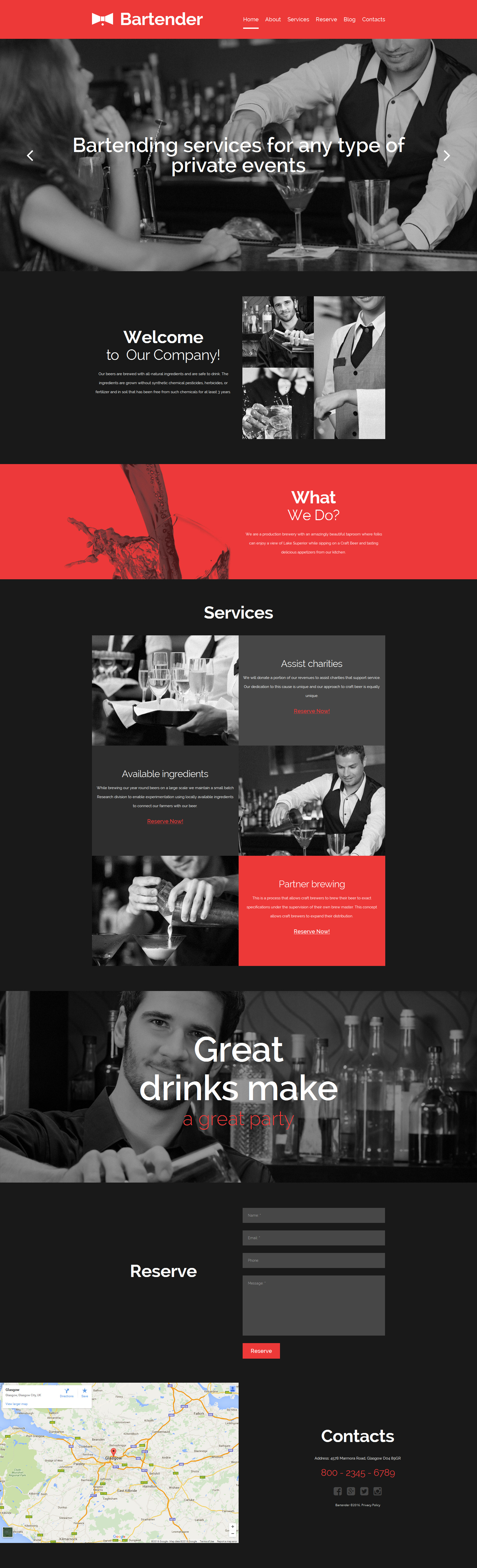 Catering Services Moto CMS 3 Template