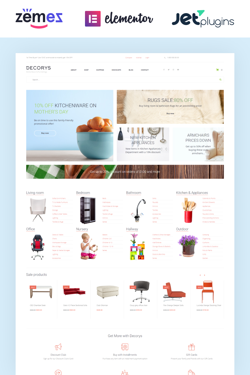 Decorys - Light Homemarket WooCommerce Theme