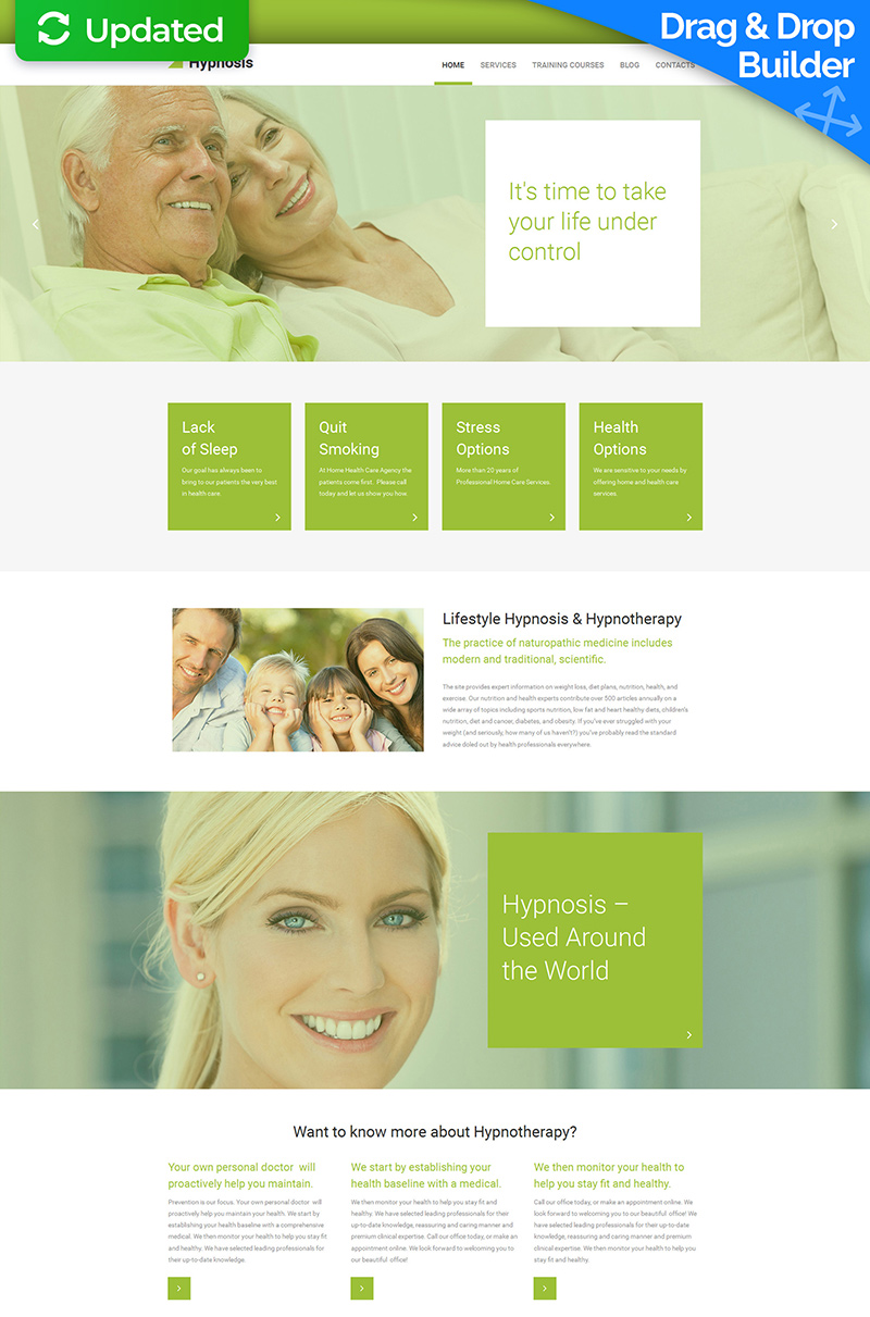 Hypnotherapy Moto CMS 3 Template