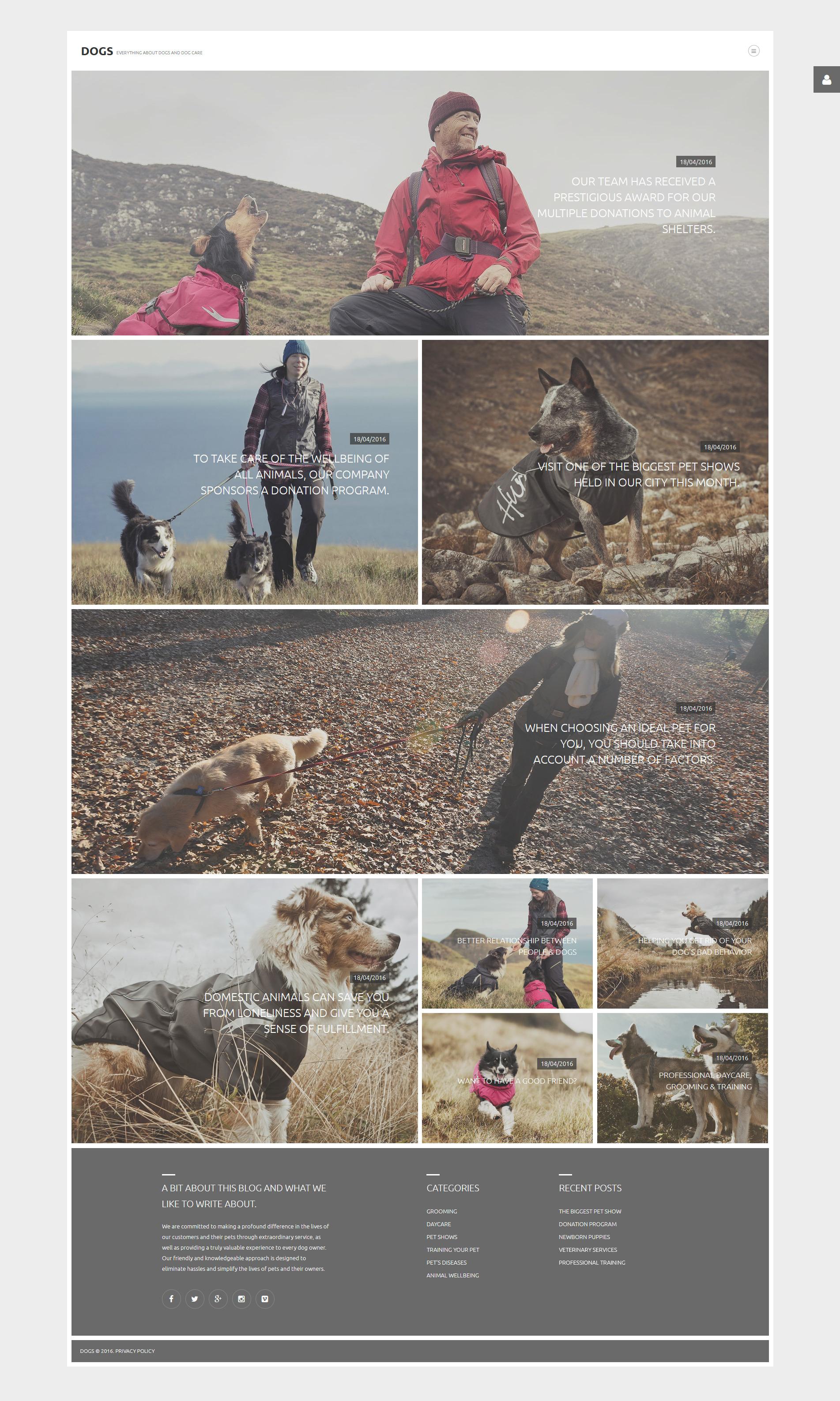 Dogs Joomla Template