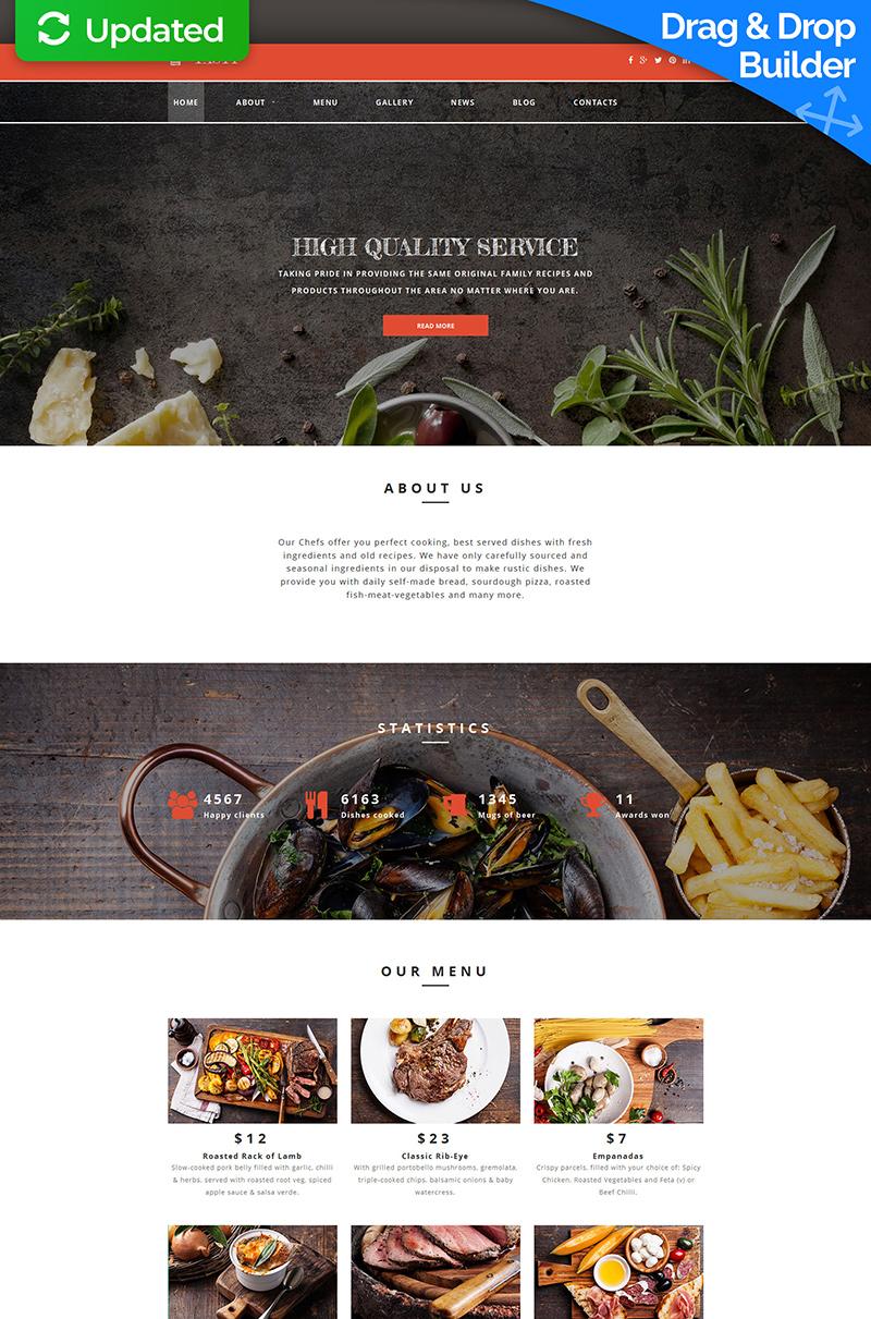 Online Restaurant Moto CMS 3 Template