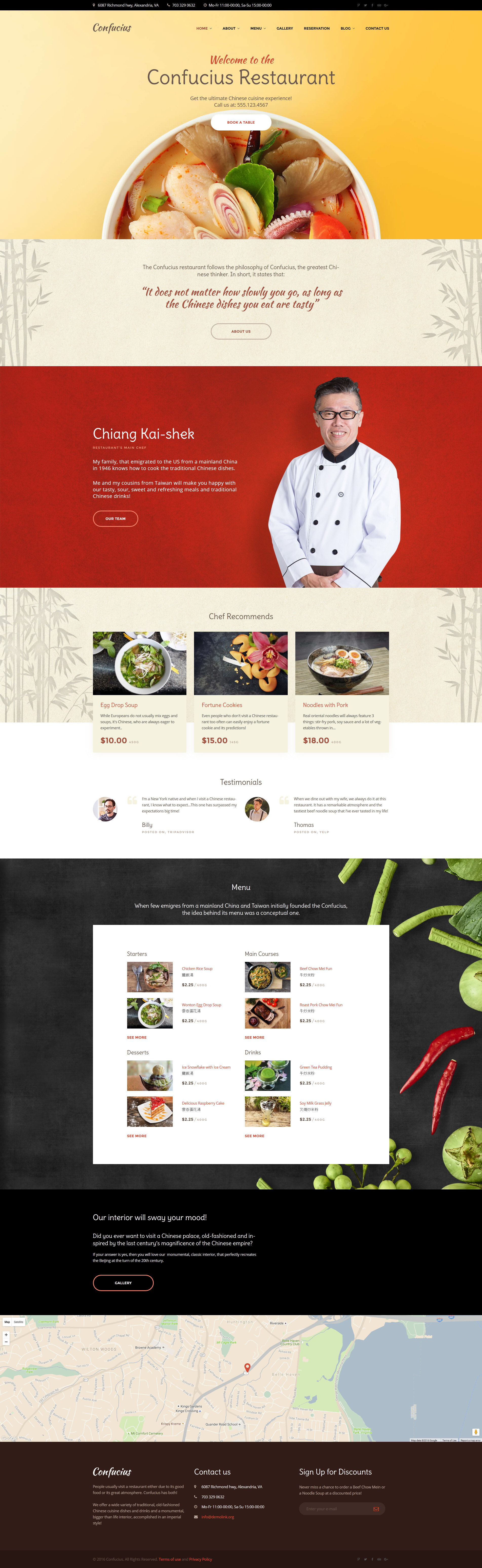Confucius Chinese Restaurant Responsive WordPress Theme Buy Website Template For 75 Id 58926