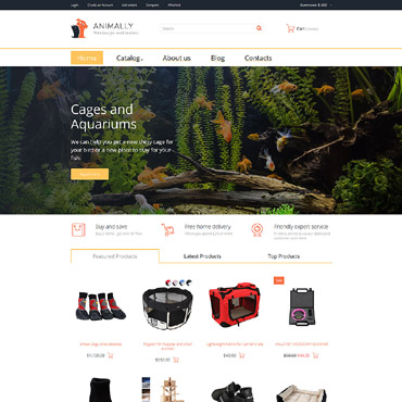 Template Animale de companie VirtueMart #58942