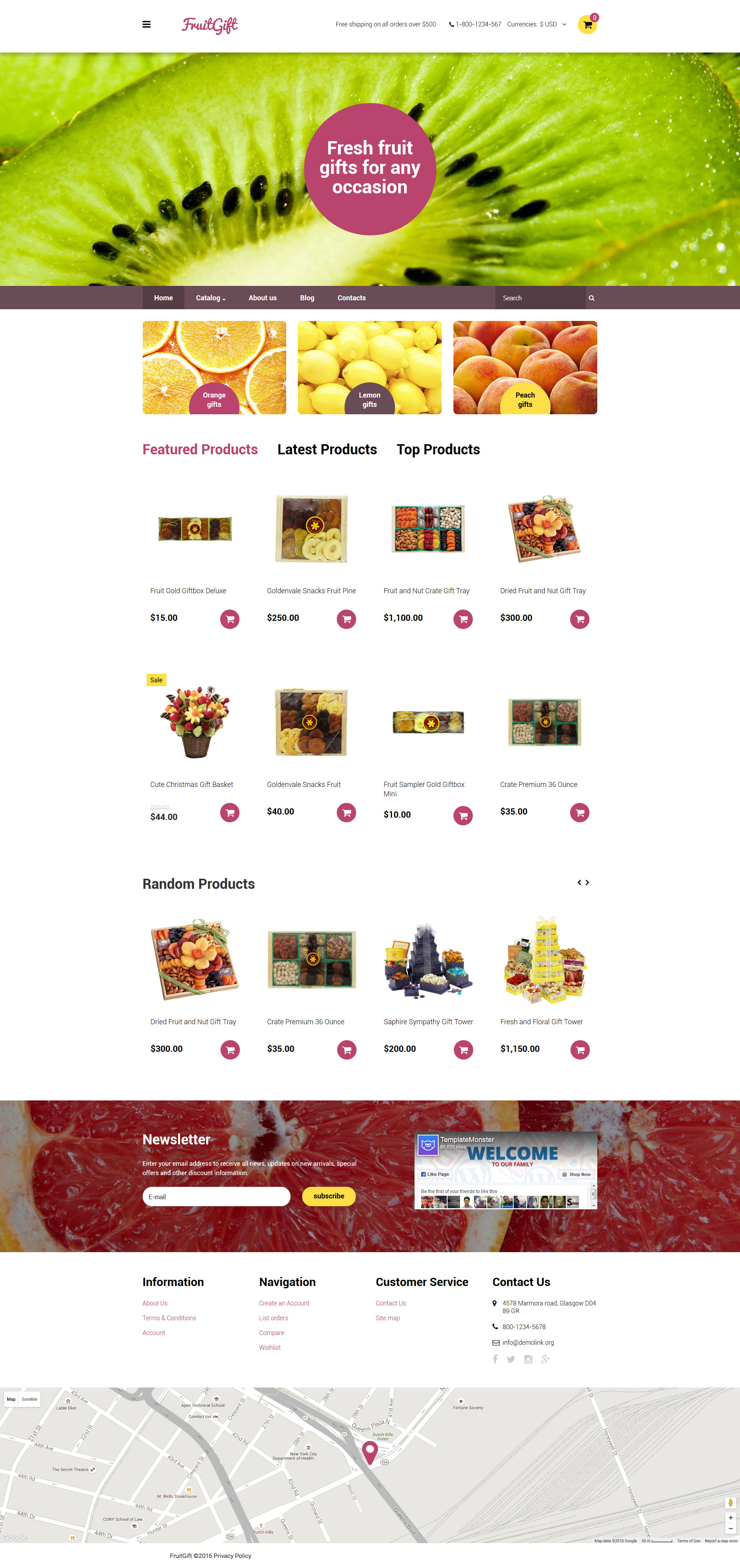 FruitGift VirtueMart Template