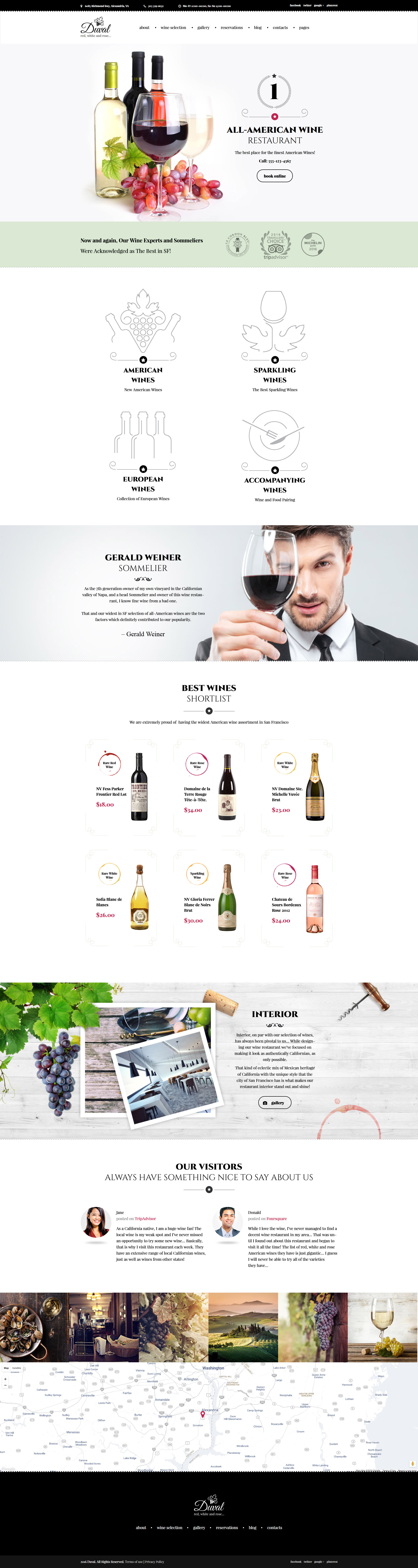 Duval - Wine Restaurant WordPress Theme