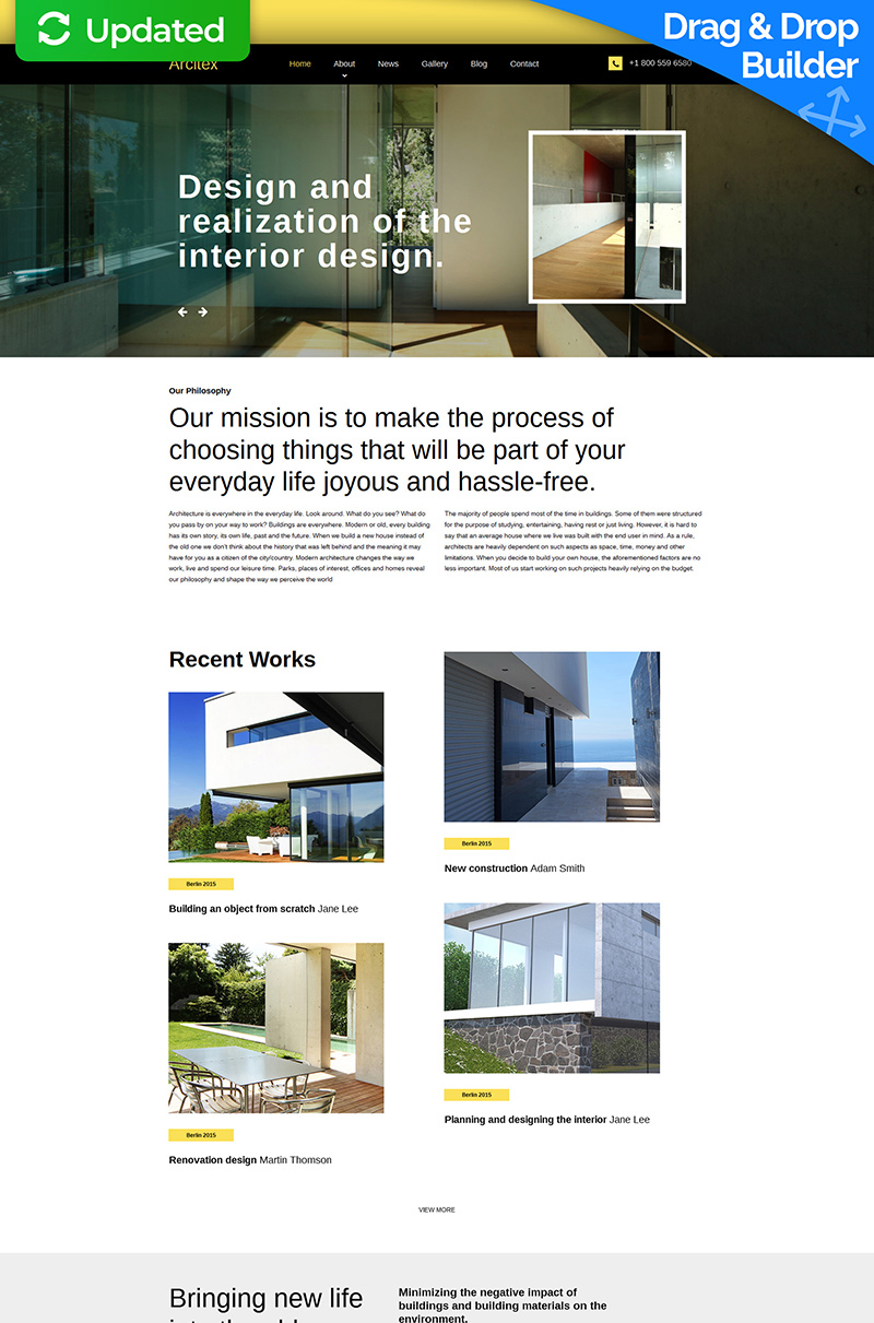 Archtex - Architectural Services Moto CMS 3 Template