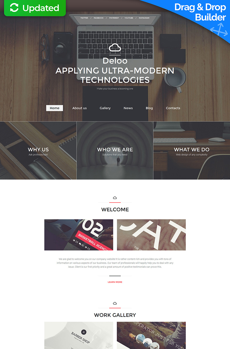 Digital Agency Moto CMS 3 Template