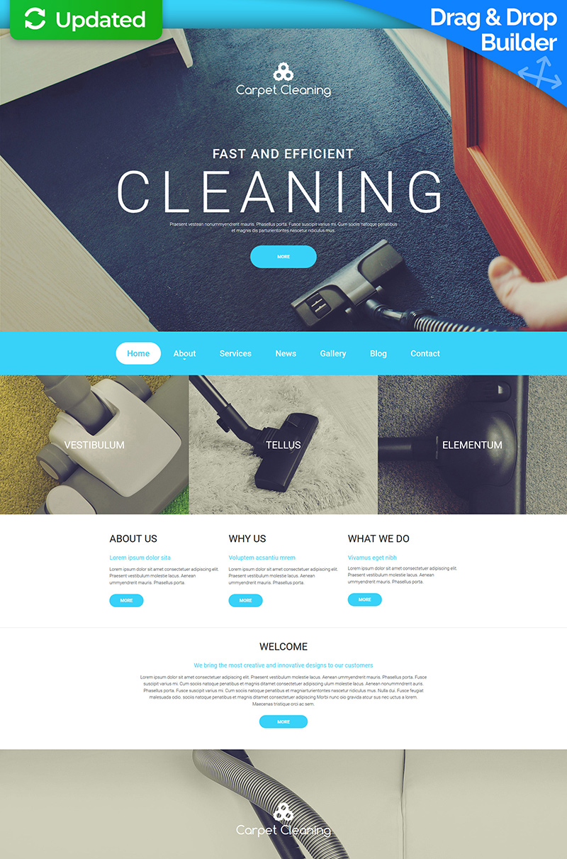 Carpet Cleaning Moto CMS 3 Template