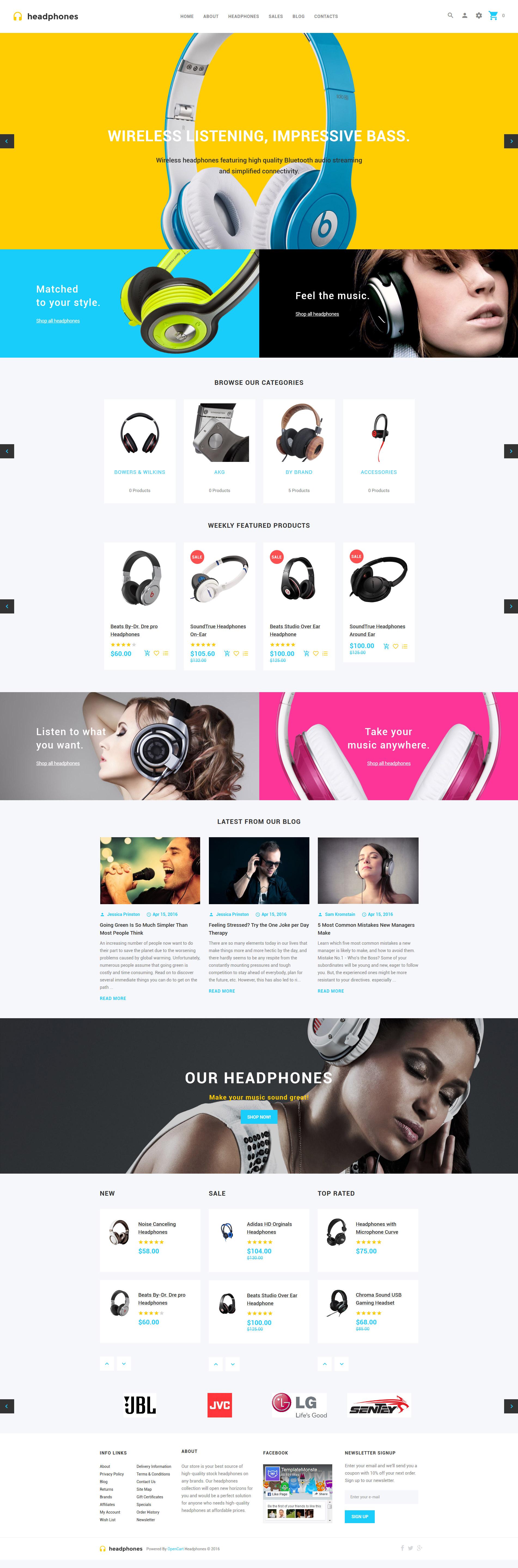 Headphones OpenCart Template