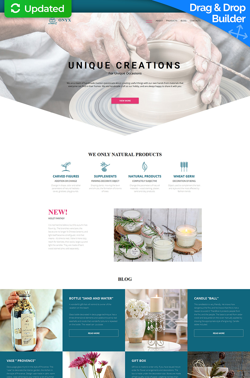 Crafts Responsive Moto CMS 3 Template