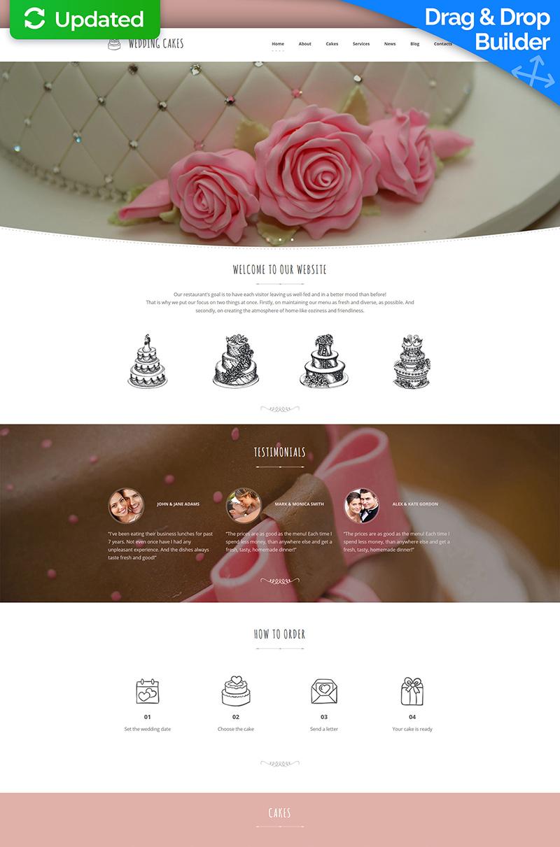 Wedding Cakes Moto CMS 3 Template