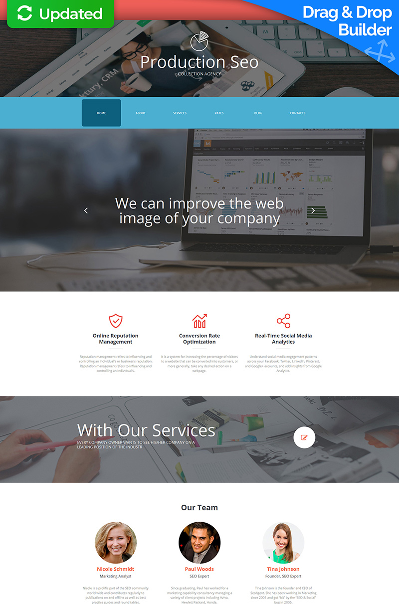Collection Agency Moto CMS 3 Template