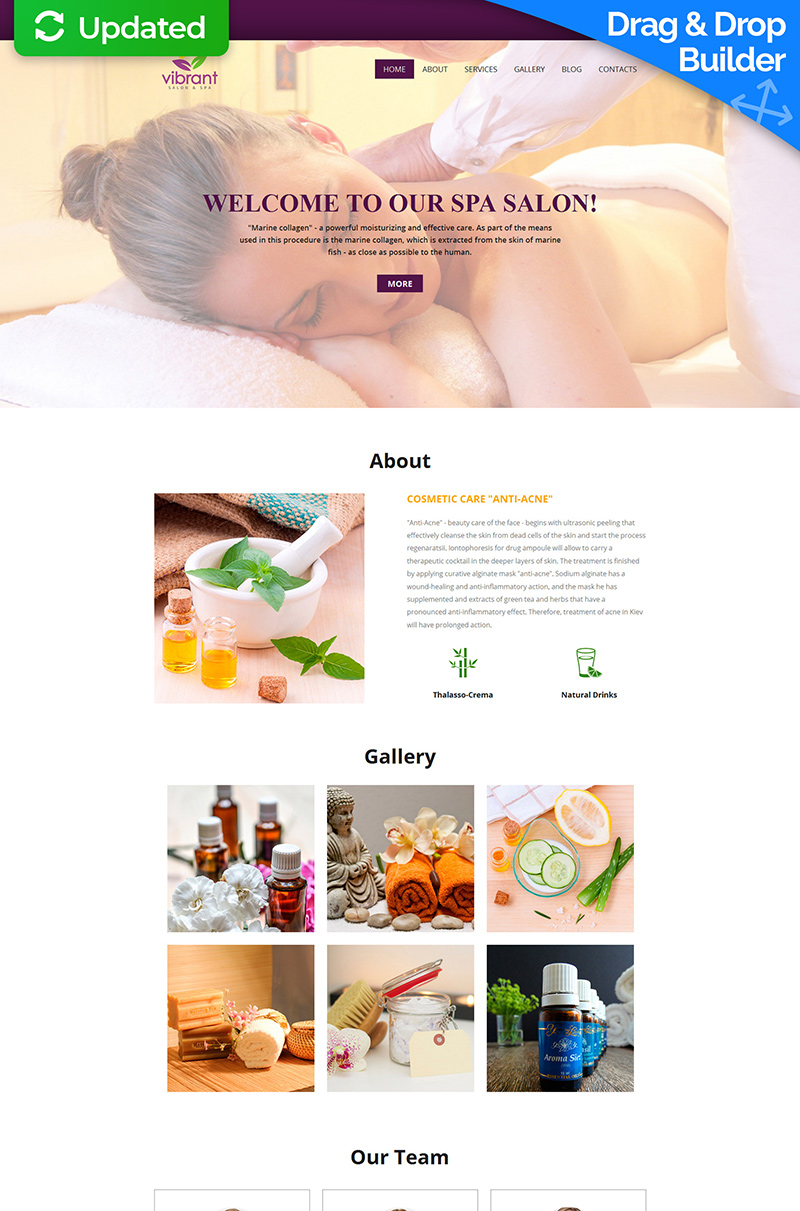 Skincare & Massage Salon Moto CMS 3 Template
