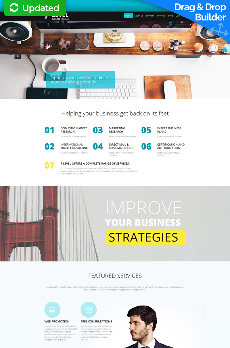 Simple Business Moto CMS 3 Template