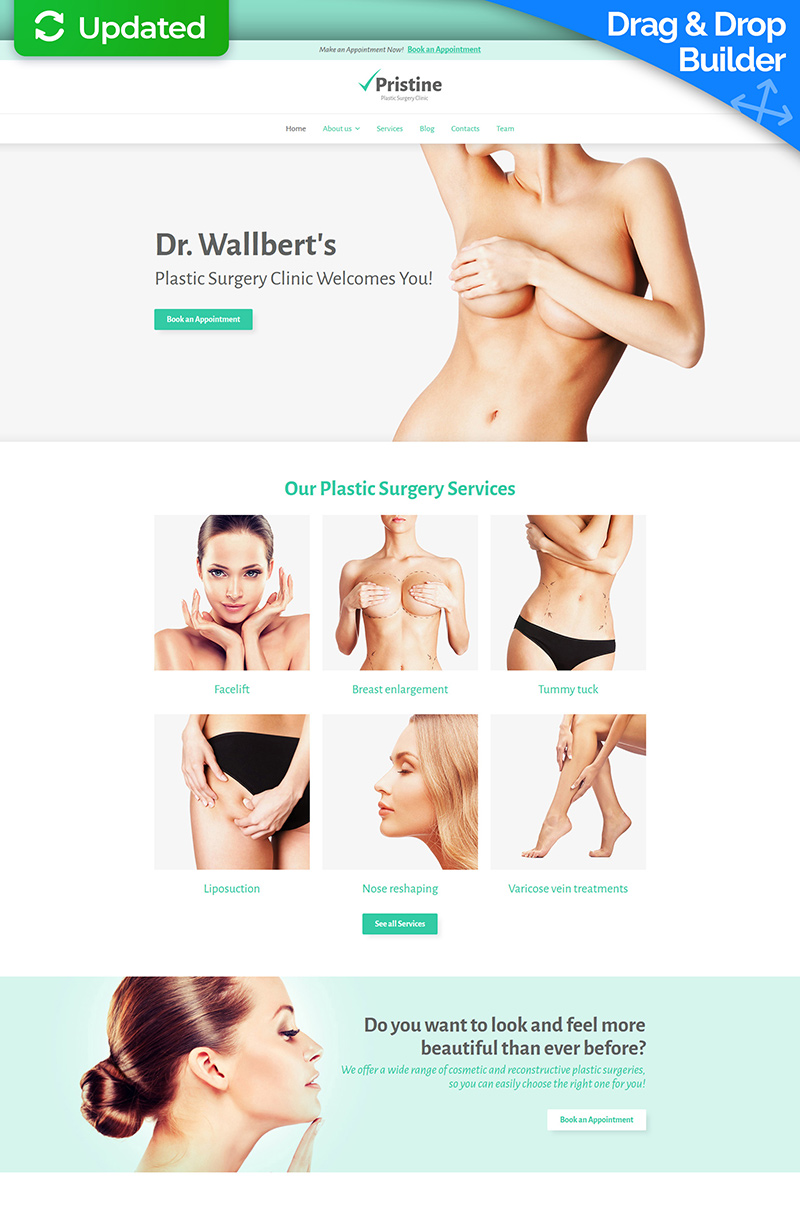 Plastic Surgery Moto CMS 3 Template