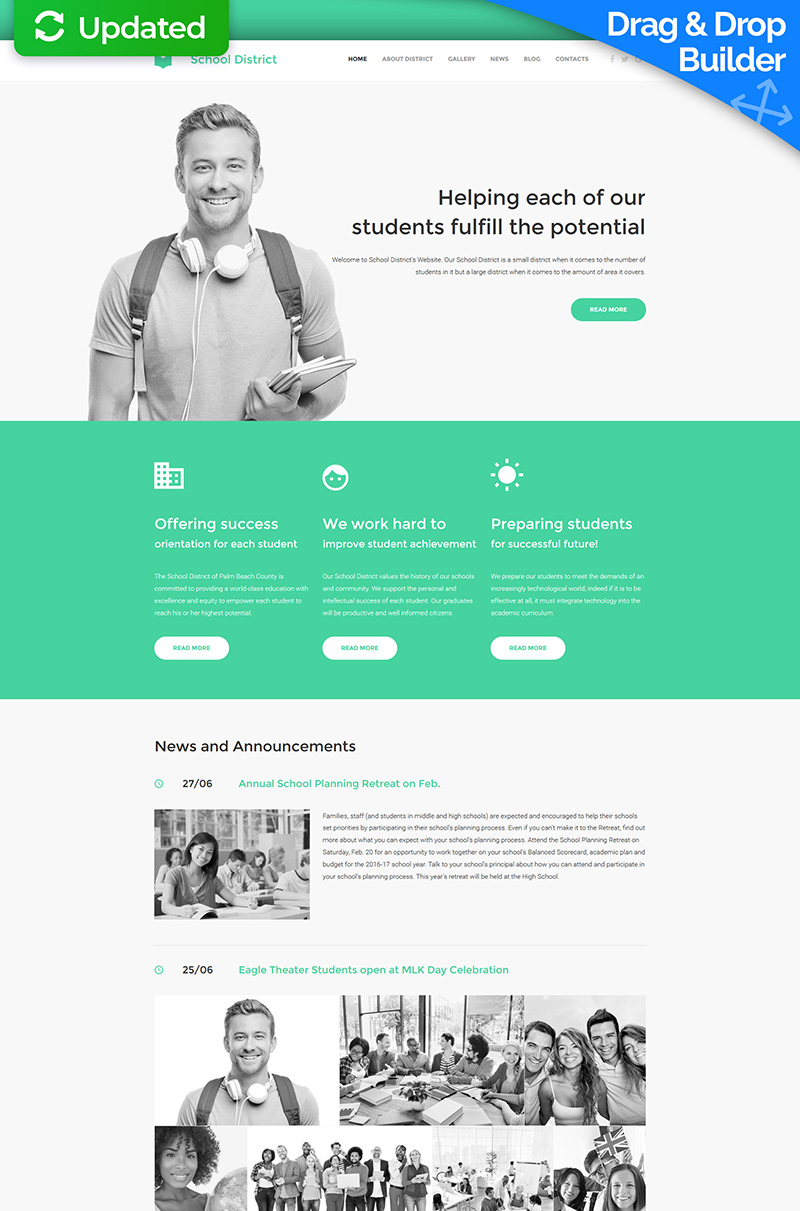 Education Moto CMS 3 Template