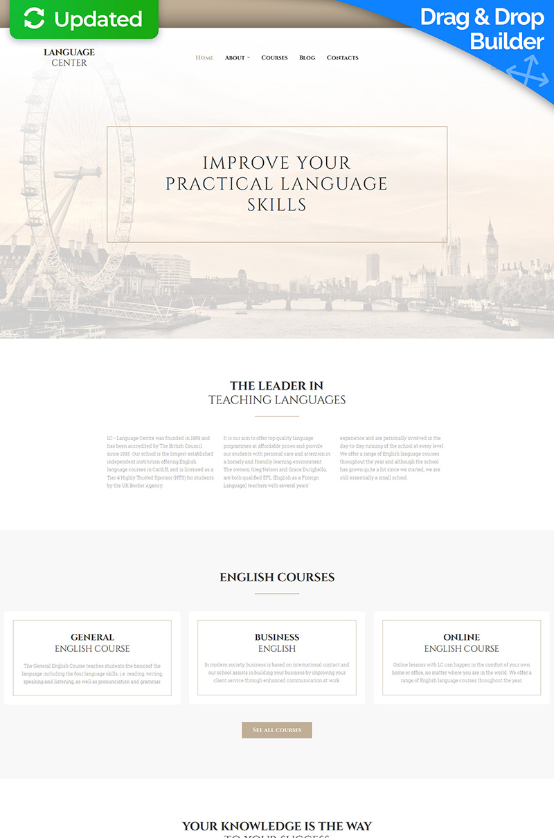 Language School Responsive Moto CMS 3 Template