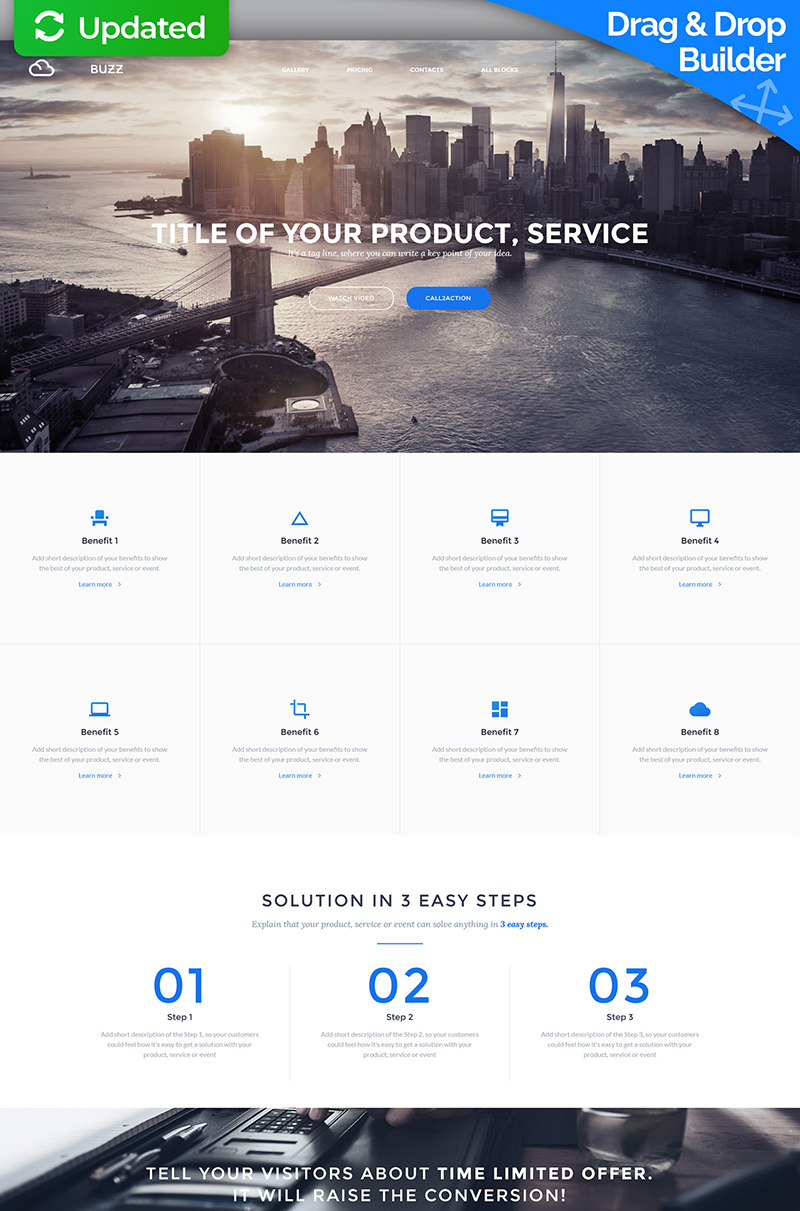 Startups MotoCMS Landing Page Template