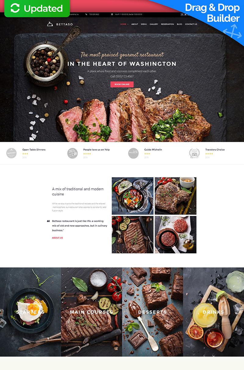 Best Restaurant Moto CMS 3 Template