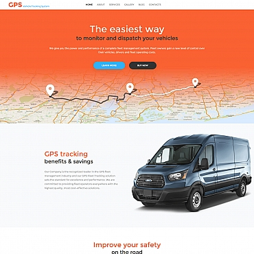 Template Transport Moto CMS 3 #59225