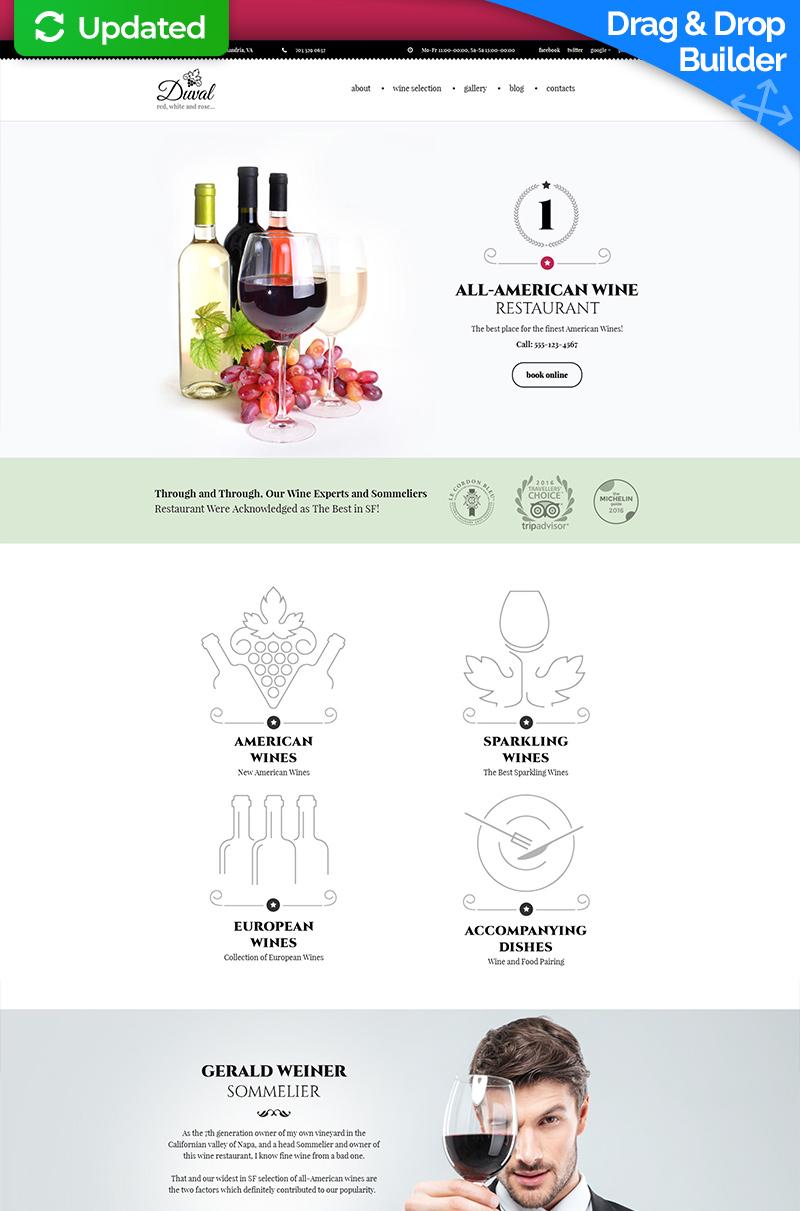 Wine Responsive Moto CMS 3 Template