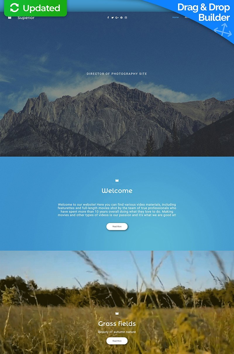 Professional Photography Moto CMS 3 Template