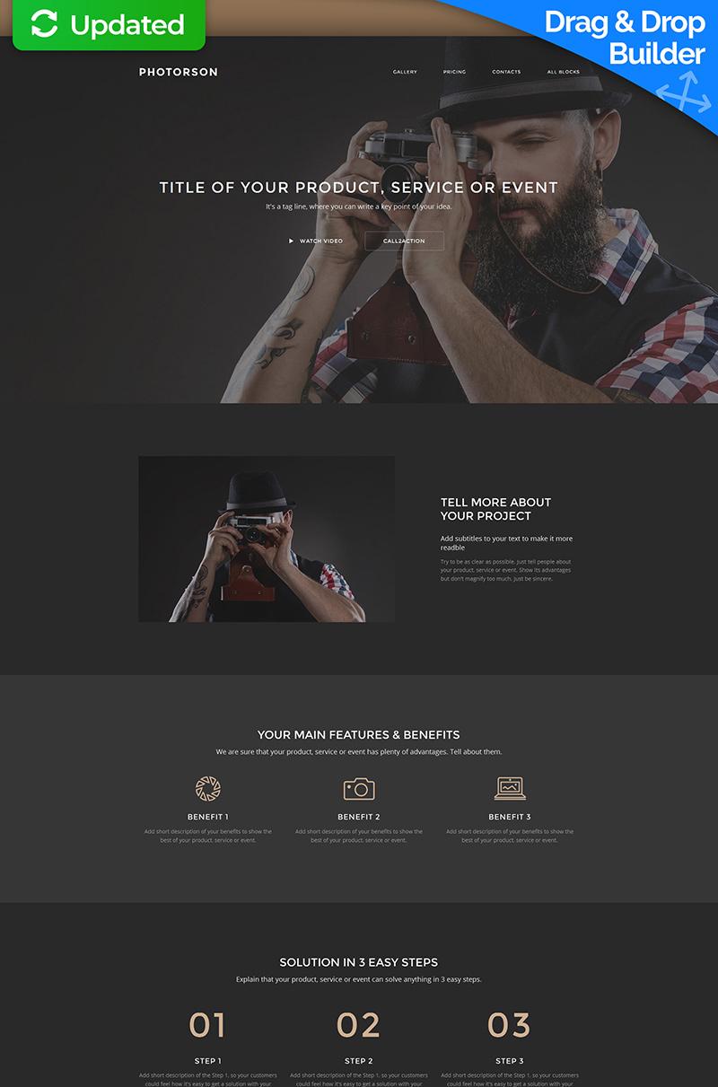 Photographer Portfolio Landing Page Template