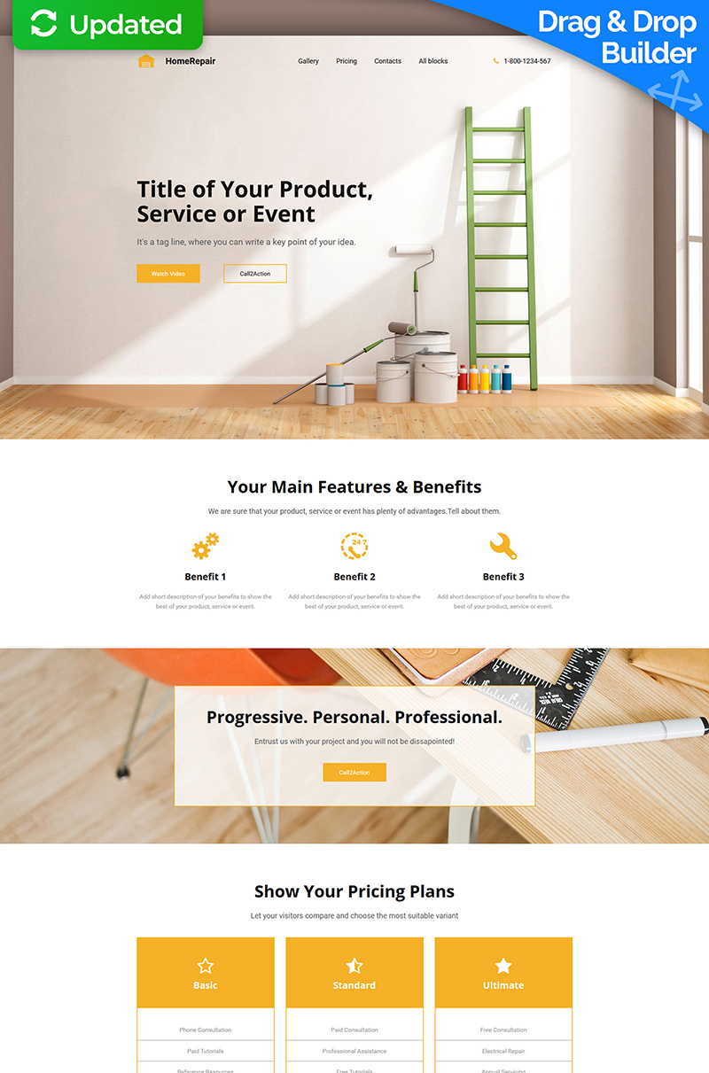 Home Repairs Landing Page Template