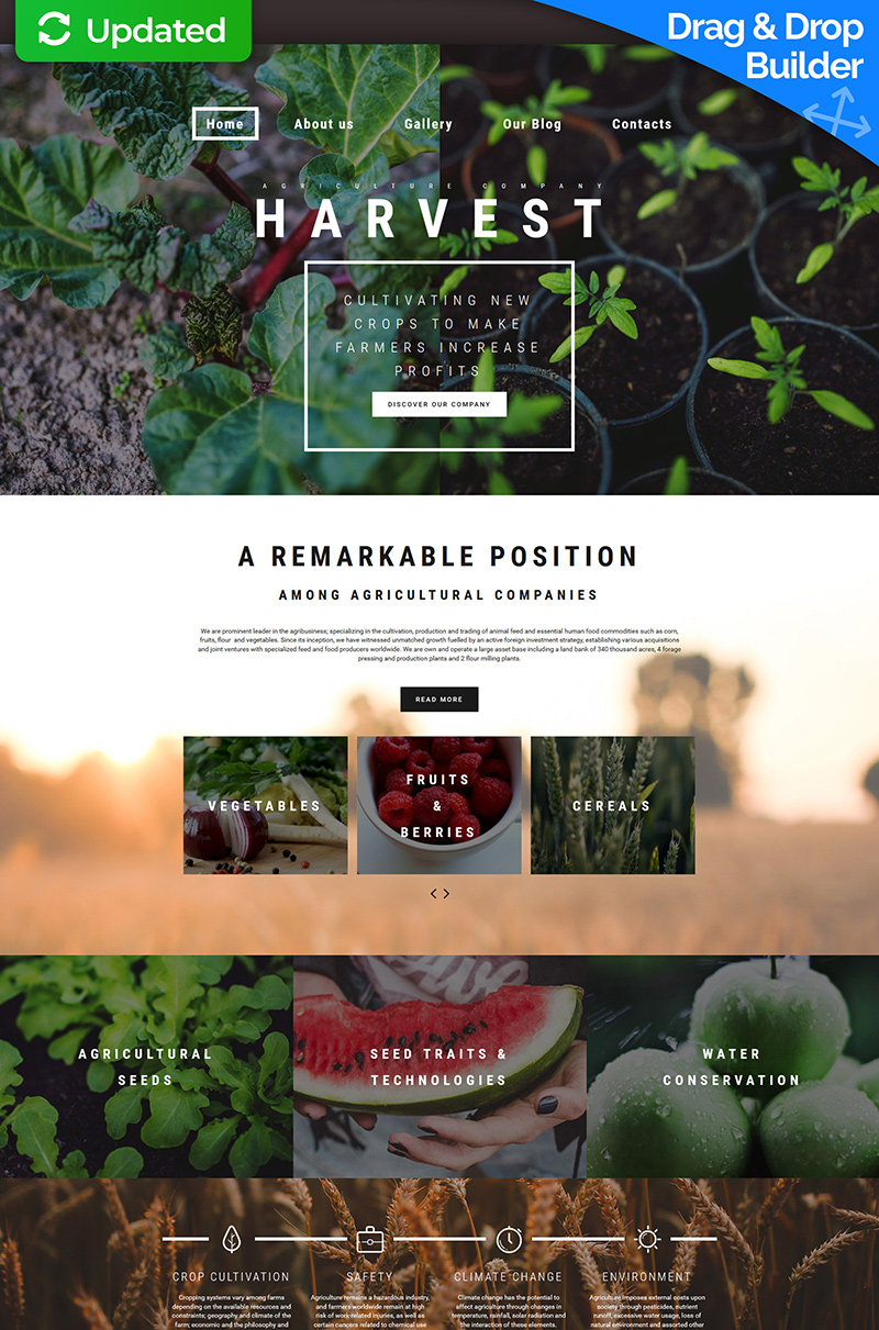 Agriculture Moto CMS 3 Template