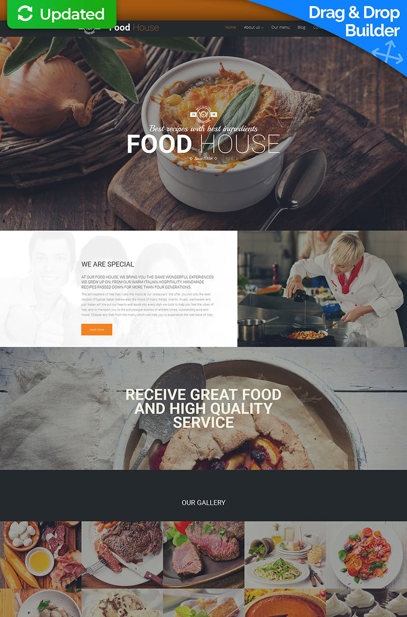 Italian Food Moto CMS 3 Template