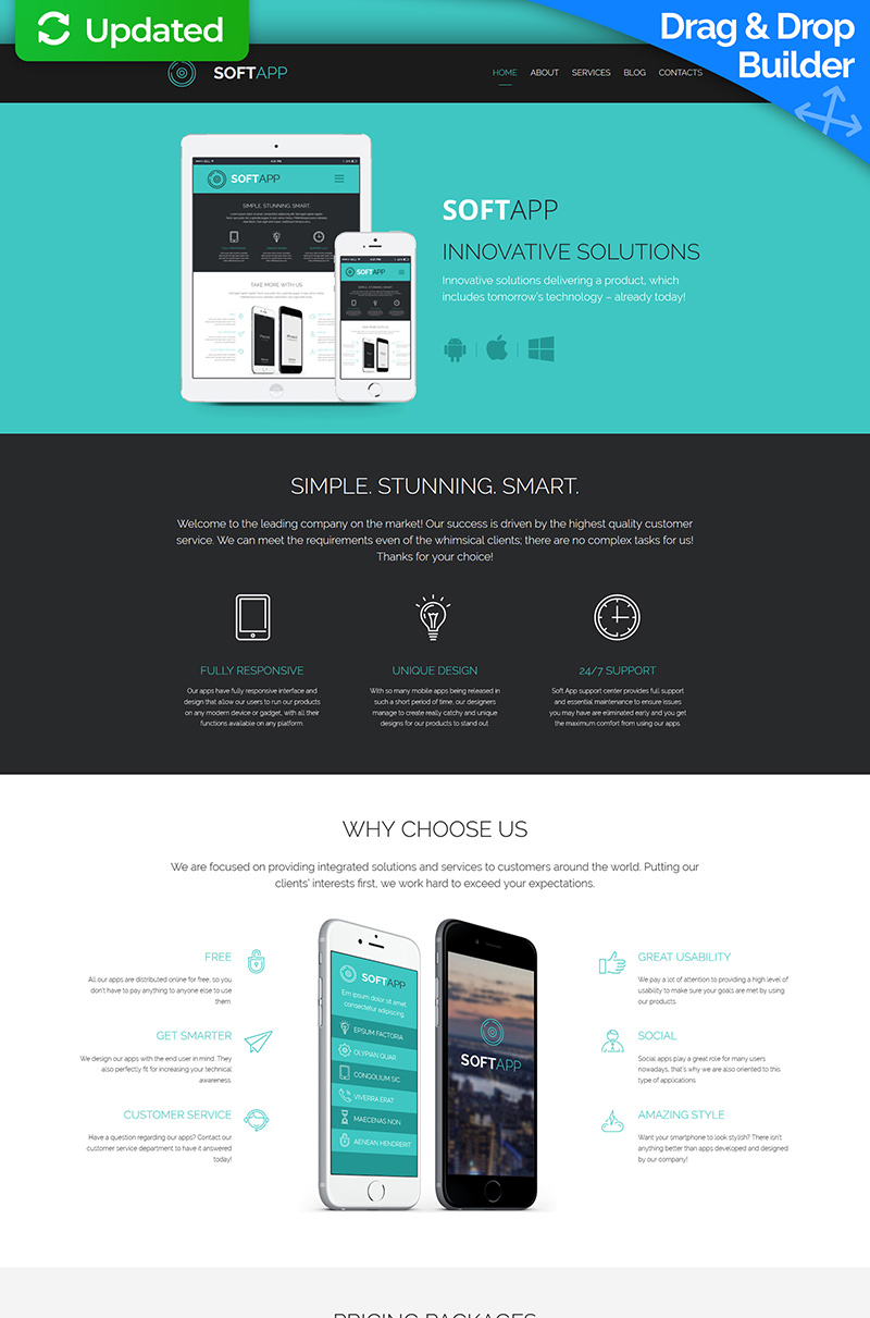 Software Company Moto CMS 3 Template