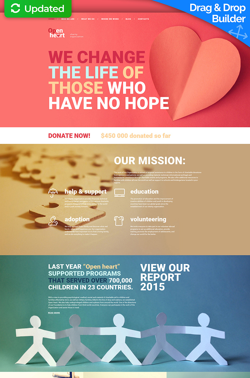 Child Charity Responsive Moto CMS 3 Template