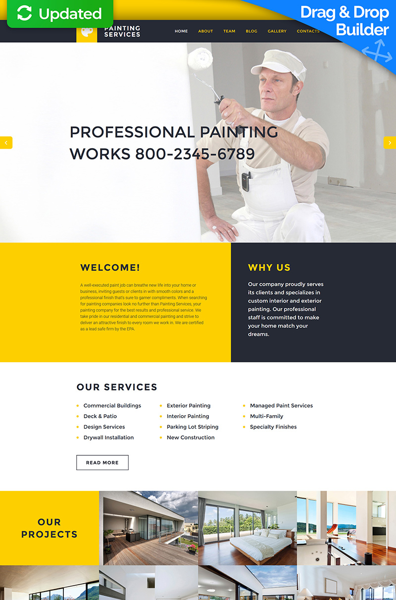 Painting Company Moto CMS 3 Template