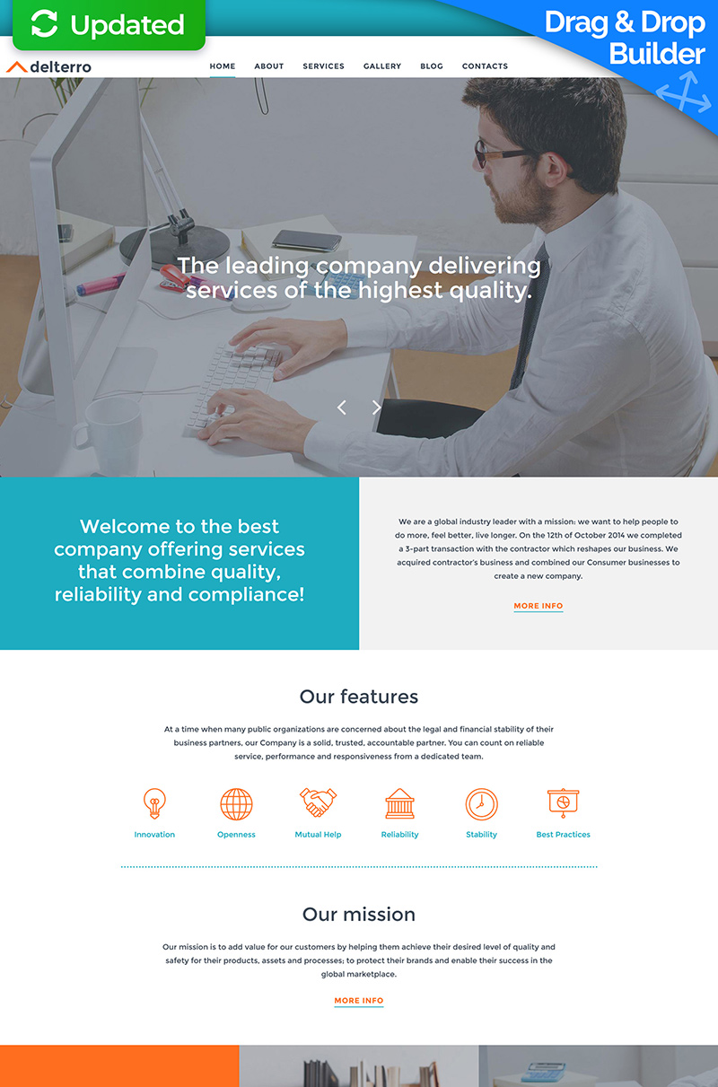 Delterro - Business Company Moto CMS 3 Template
