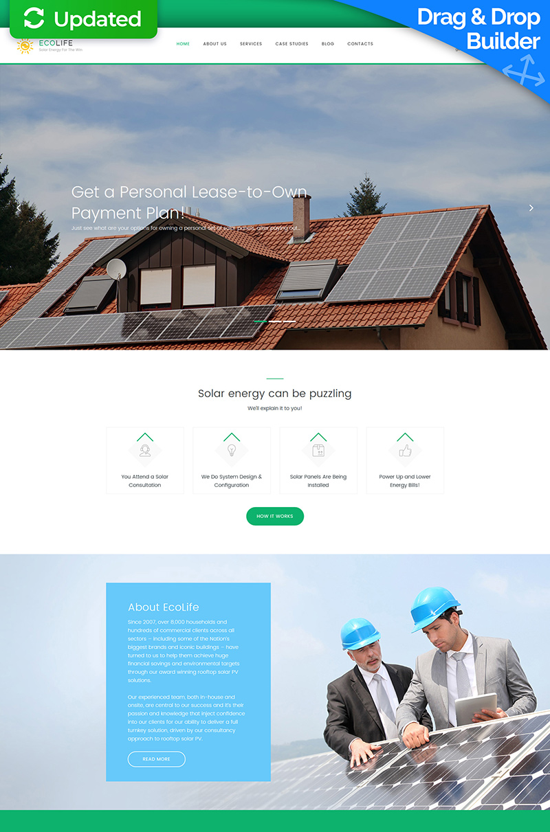Eco Life - PV System Moto CMS 3 Template