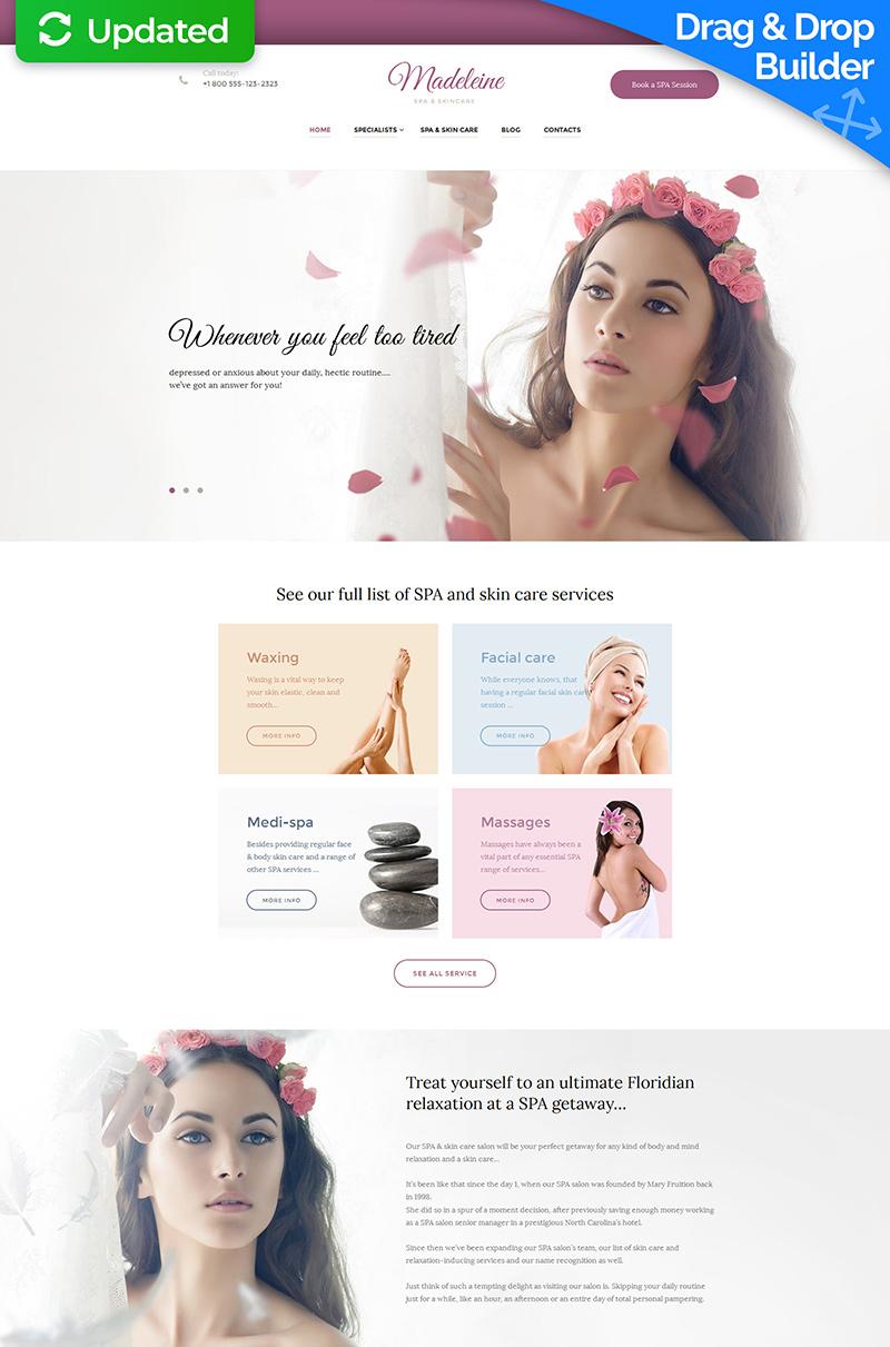 Beauty Salon Responsive Moto CMS 3 Template