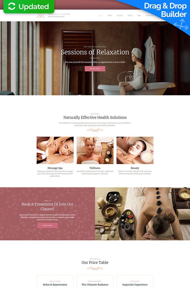 Melissa & Lauren - Beauty Salon Responsive Premium Moto CMS 3 Template
